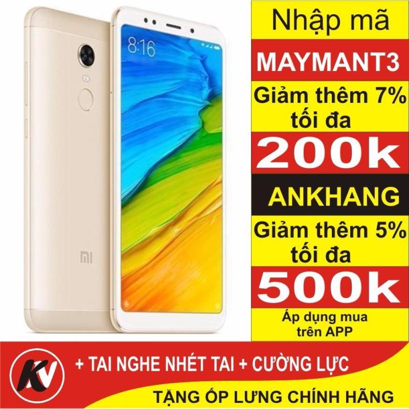 Xiaomi Redmi 5 Plus -32GB Ram 3GB ( Vàng ) - Hàng nhập khẩu + Ốp lưng + Cường lực + Tai nghe nhét tai
