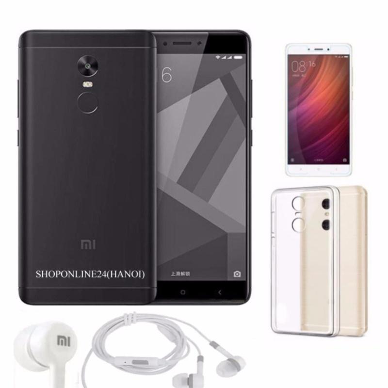 Xiaomi Redmi Note 4X 32GB (Đen nhám) +Tai Nghe + Ốp Lưng + kính cường lực - Hàng nhập khẩu