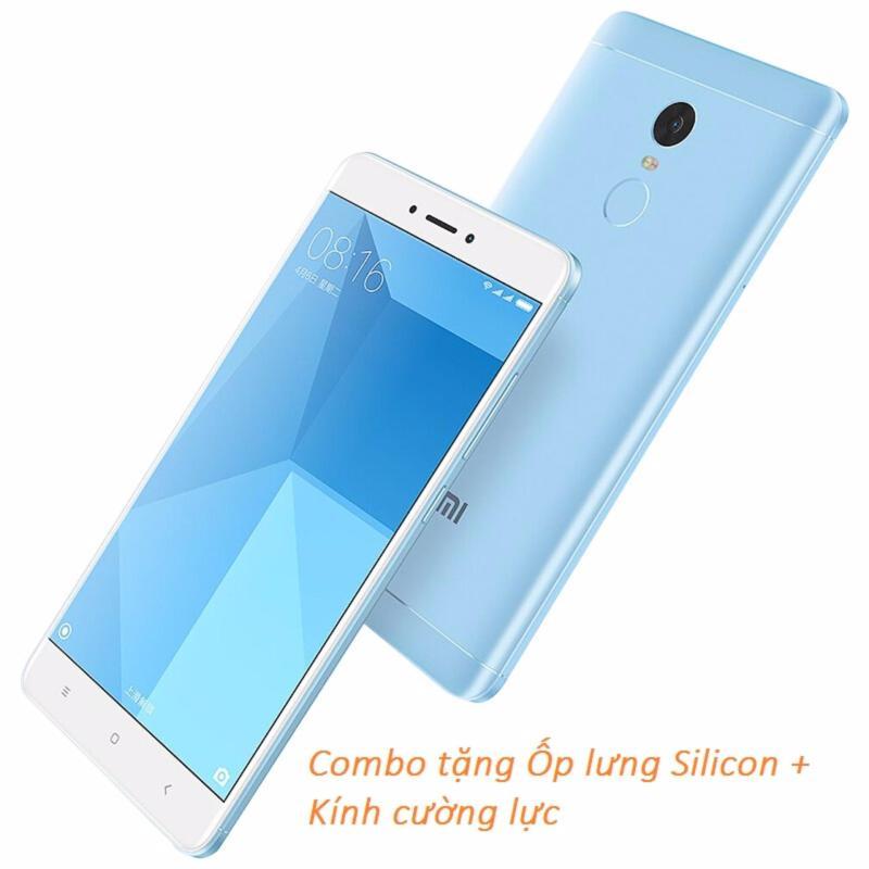 Xiaomi Redmi Note 4X 32GB (Xanh Biển) + Ốp lưng Silicon + Kính cường lực - Hàng nhập khẩu