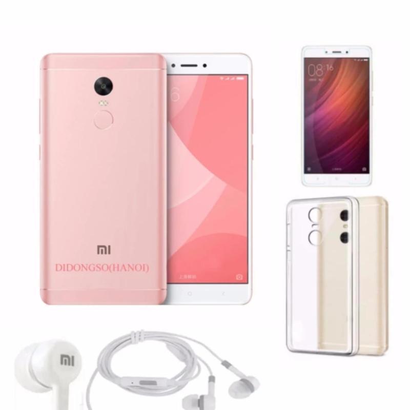 Xiaomi Redmi Note 4X 64Gb 4Gb Ram (Hồng) + Tai Nghe + Ốp Lưng + Kính Cường Lực - Hàng nhập khẩu