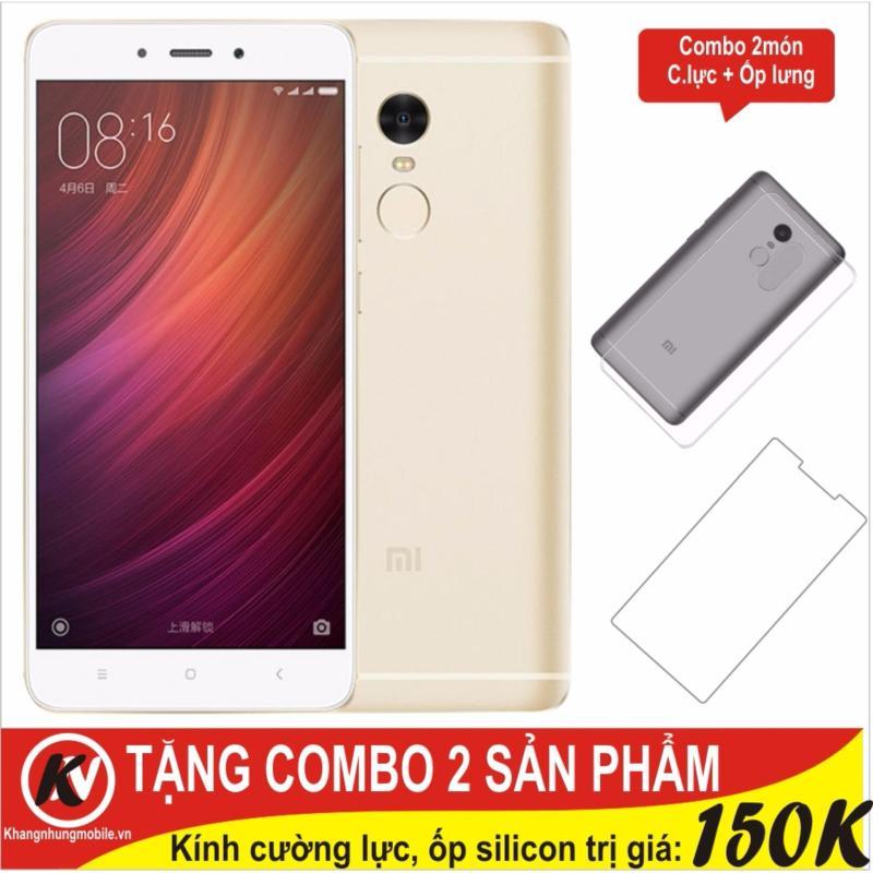 Xiaomi Redmi Note 4X Ram 3GB Rom 16GB Khang Nhung (Vàng) + Cường lực + Ốp silicon - Hàng nhập khẩu