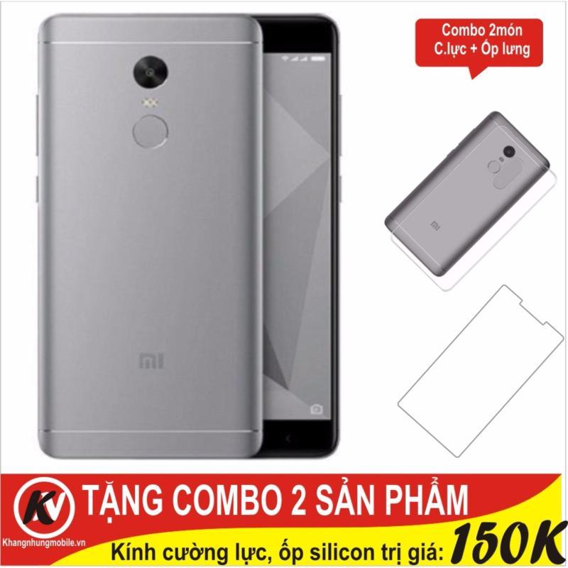 Xiaomi Redmi Note 4X Ram 3GB Rom 16GB Khang Nhung (Xám) + Cường lực + Ốp silicon - Hàng nhập khẩu