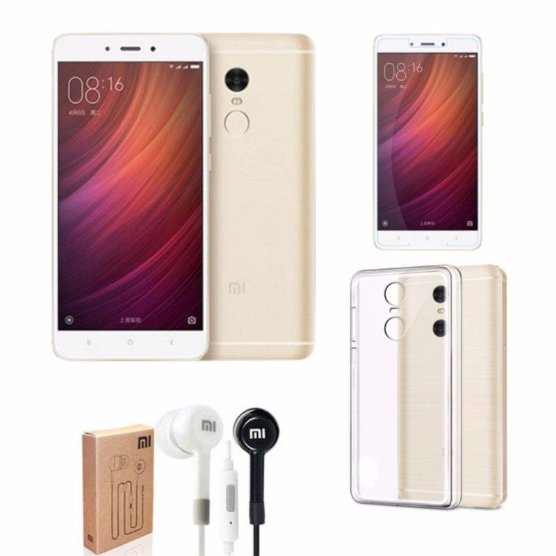 Xiaomi Redmi Note 4X Ram 3GB Rom32GB (Vàng) + Ốp Lưng + Kính Cường Lực + Tai Nghe - Hàng nhập khẩu