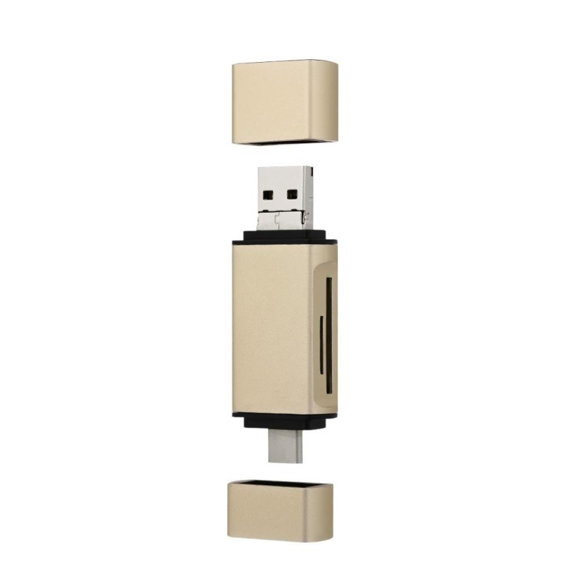 Bảng giá YC33 Memory Card Reader TF SD Card Reader USB 2.0 Type C Adapter for PC Notebook Tablet with OTG Function Gold - intl Phong Vũ