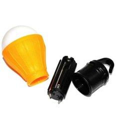 1 PC Outdoor Camping Lamp Tent Light Torch Flashlight Hanging Flat LED Light 3 Mode Adjustable Lantern AAA Battery - intl