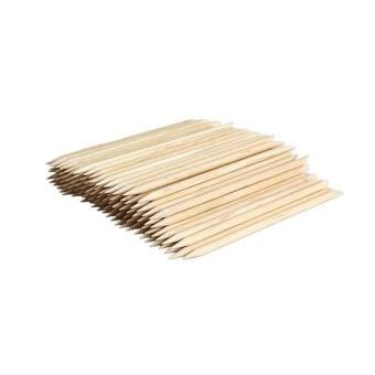 100Pcs Nail Art Orange Wood Stick Cuticle Pusher Remover Formanicures - intl