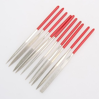 10pcs 140mm Diamond Mini Needle File Set Handy Tools for Ceramic Crafts - intl