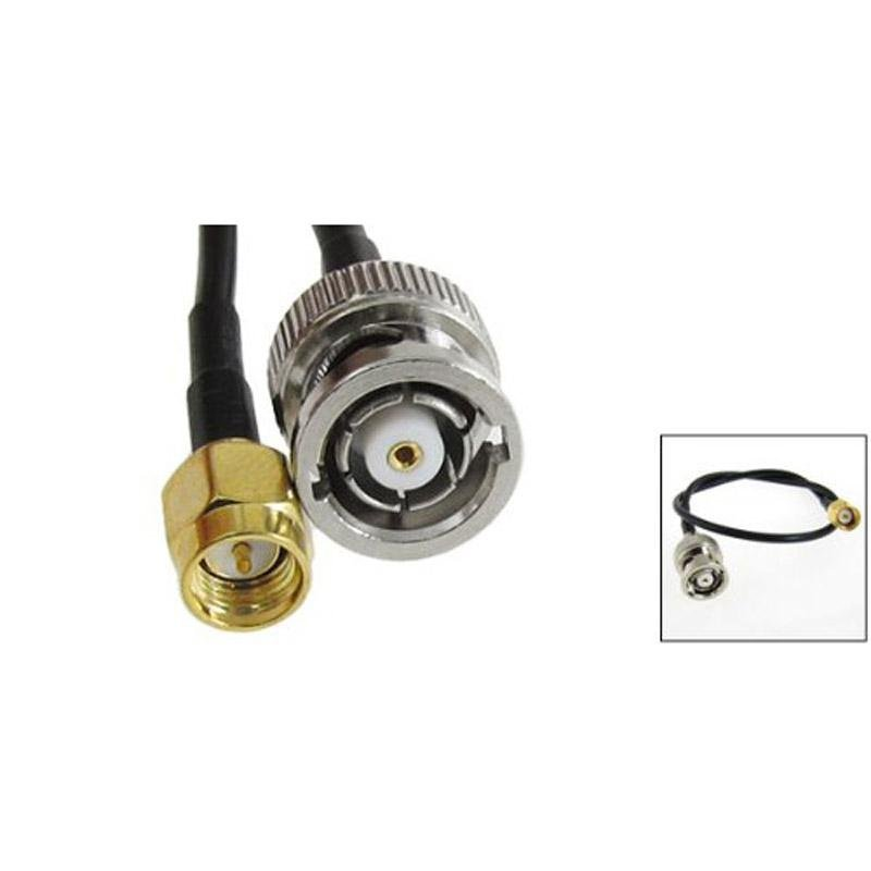 Bảng giá Mua 12.8inch Coaxial Cable Antenna Adapter SMA Male to BNC Male Plug - intl