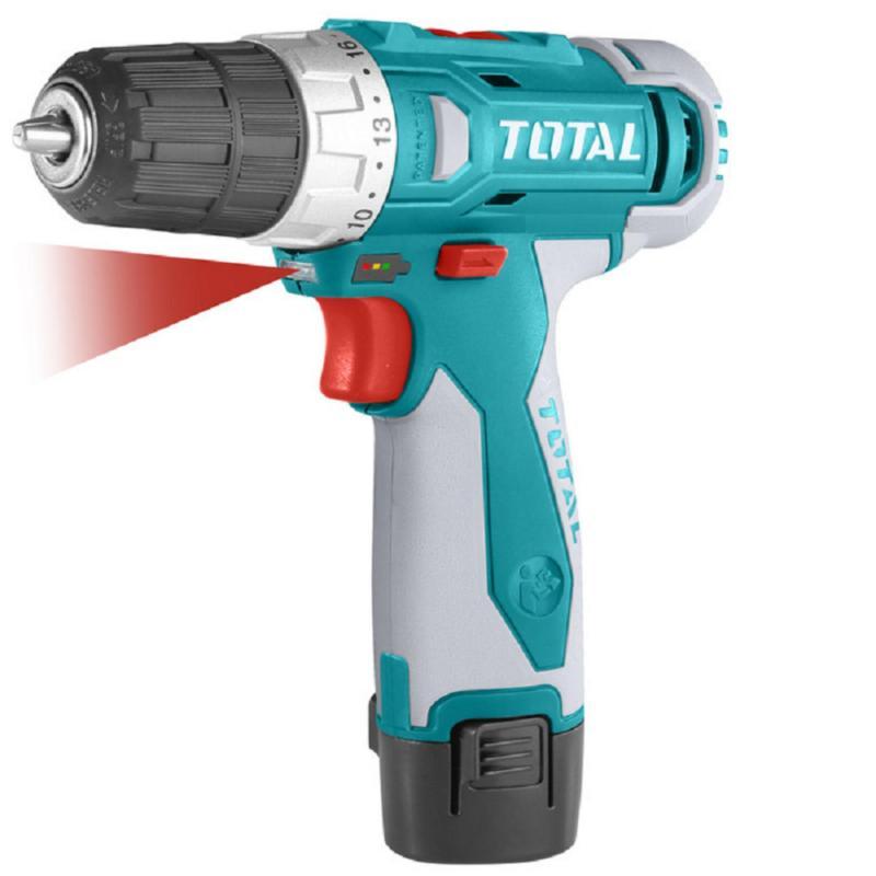 12V Máy khoan vặn vít dùng pin Li-ion Total TDLI228120-1 (1 pin + 2 mũi khoan)