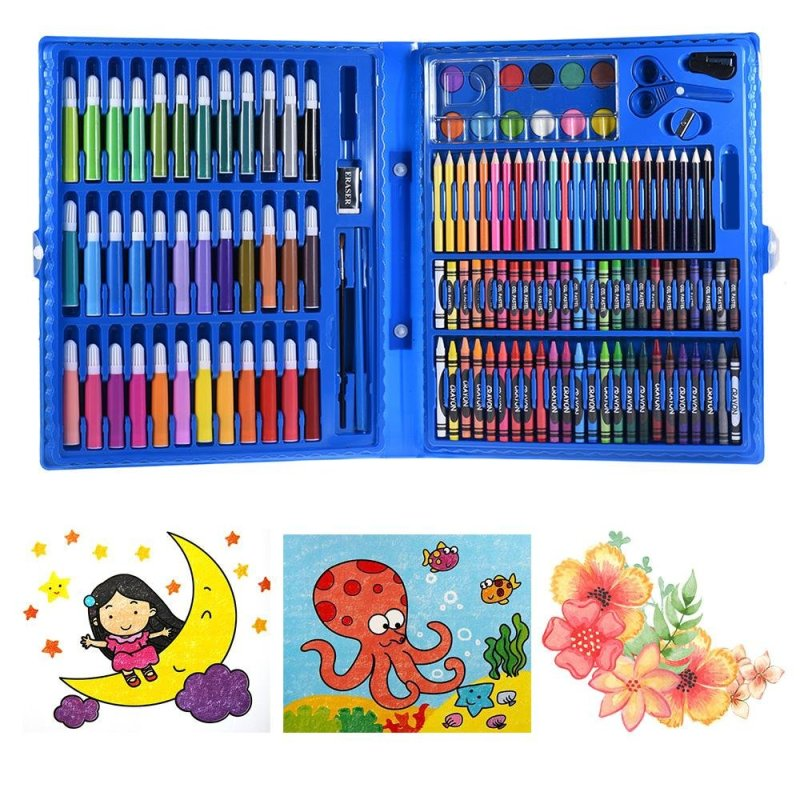 Mua 148pcs Deluxe Art Set for Kids with Case Colored Markers Color Pencils Crayons Watercolors Gift for Children Painting Supplies - intl