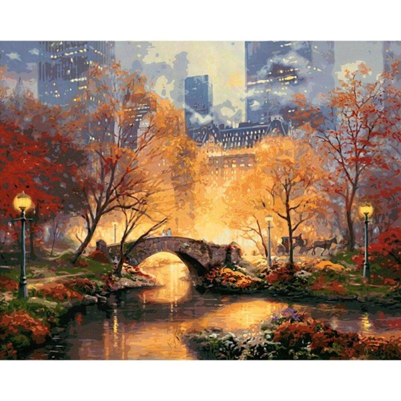 Mua 16X20'' DIY Paint By Number Kit Digital Oil Painting Canvas Beauty City Park New