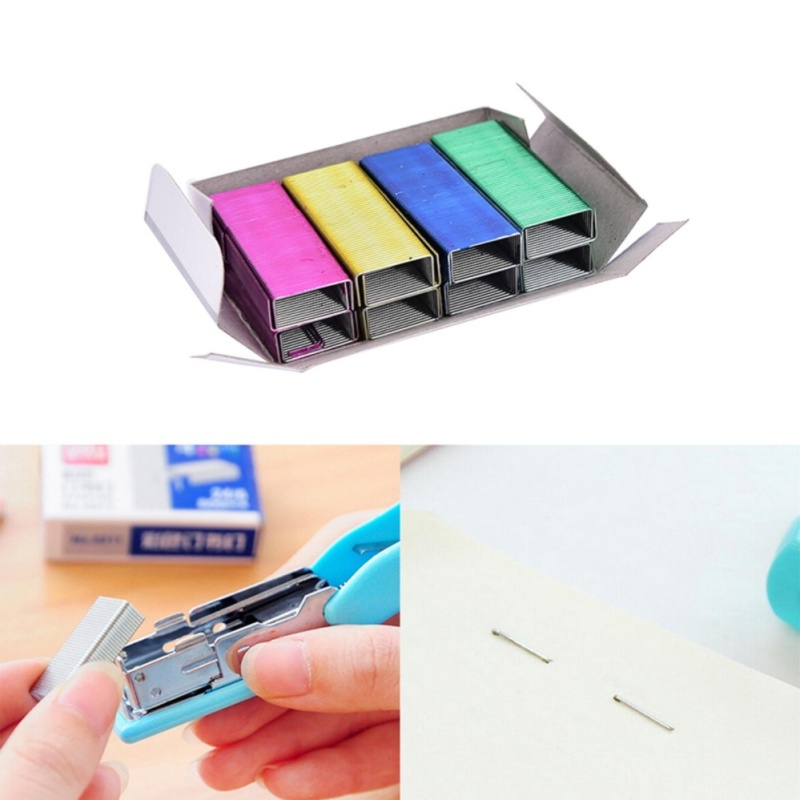 Mua 1Pack 12mm Creative Colorful Stainless Steel Staples Office Binding Supplies - intl