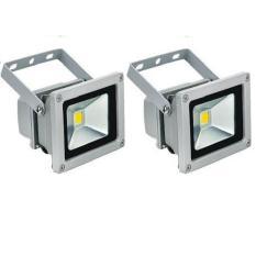 2 Đèn pha LED 10W siêu sáng tiết kiệm điện (Ánh sáng trắng)