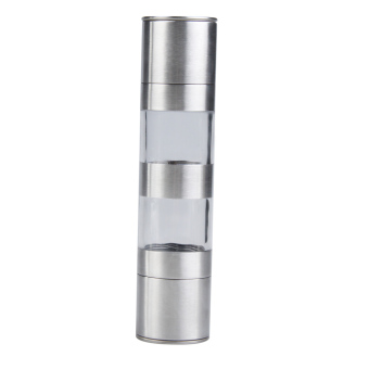 2 in 1 Manual Stainless Steel Kitchen Salt and Pepper Mill Grinder Muller