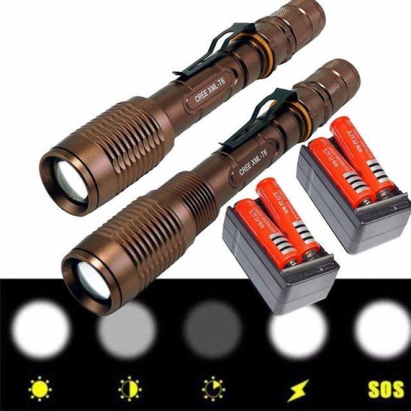 Bảng giá Mua 2 x 3000Lumen Tactical CREE XML T6 LED Flashlight Torch+18650 & - intl