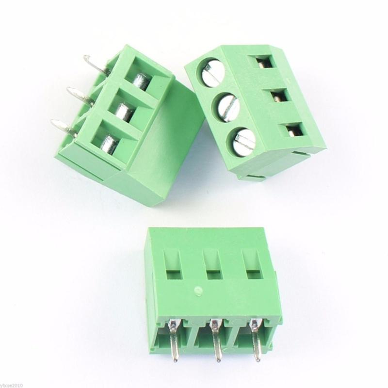 Bảng giá Mua 20 Pcs KF126 3 Pin 5mm Pitch PCB Mount Screw Terminal Block AC 250V 8A - intl