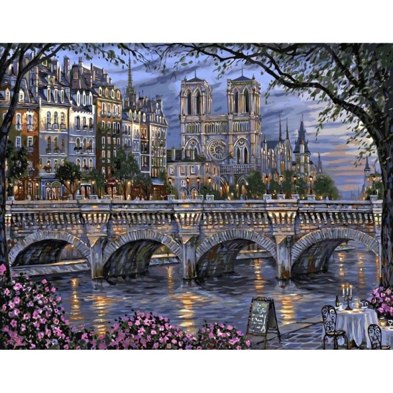 "Mua 20""*16"" DIY Paint By Numbers Kit Digital Oil Painting Canvas Art City Scenery - intl"