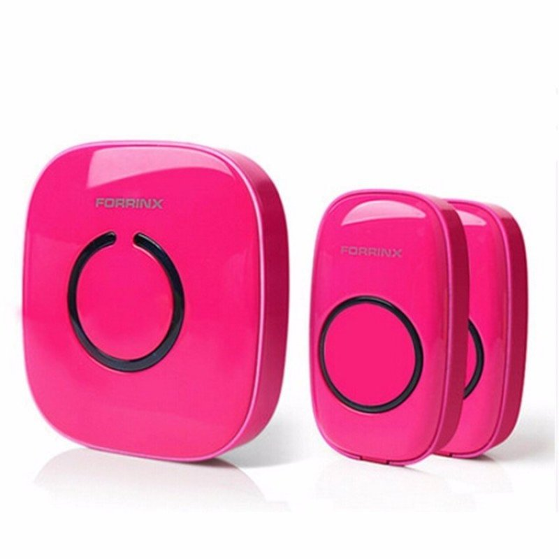 2+1 Forrinx Smart Home Digital AC Wireless Remote Control DoorbellRing Rose - intl