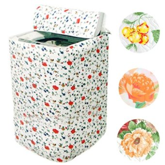 2PCS Floral Waterproof Washing Machine Cover Protection Shield - intl