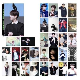 30pcs Set KPOP Personal LOMO Cards BTS BANGTAN BOYS Photo Picture Poster H04 JUNG KOOKJIN - intl