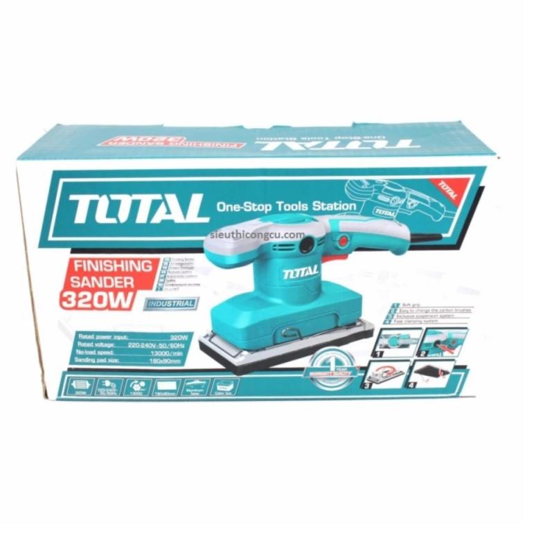320W - Máy chà nhám rung Total TF1301826  (kèm chổi than + 5 giấy nhám)