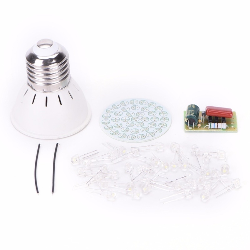 Bảng giá Mua 38 LEDs Lamps DIY Kits Electronic Suite Energy-Saving Lamps Suite 1 Set - intl