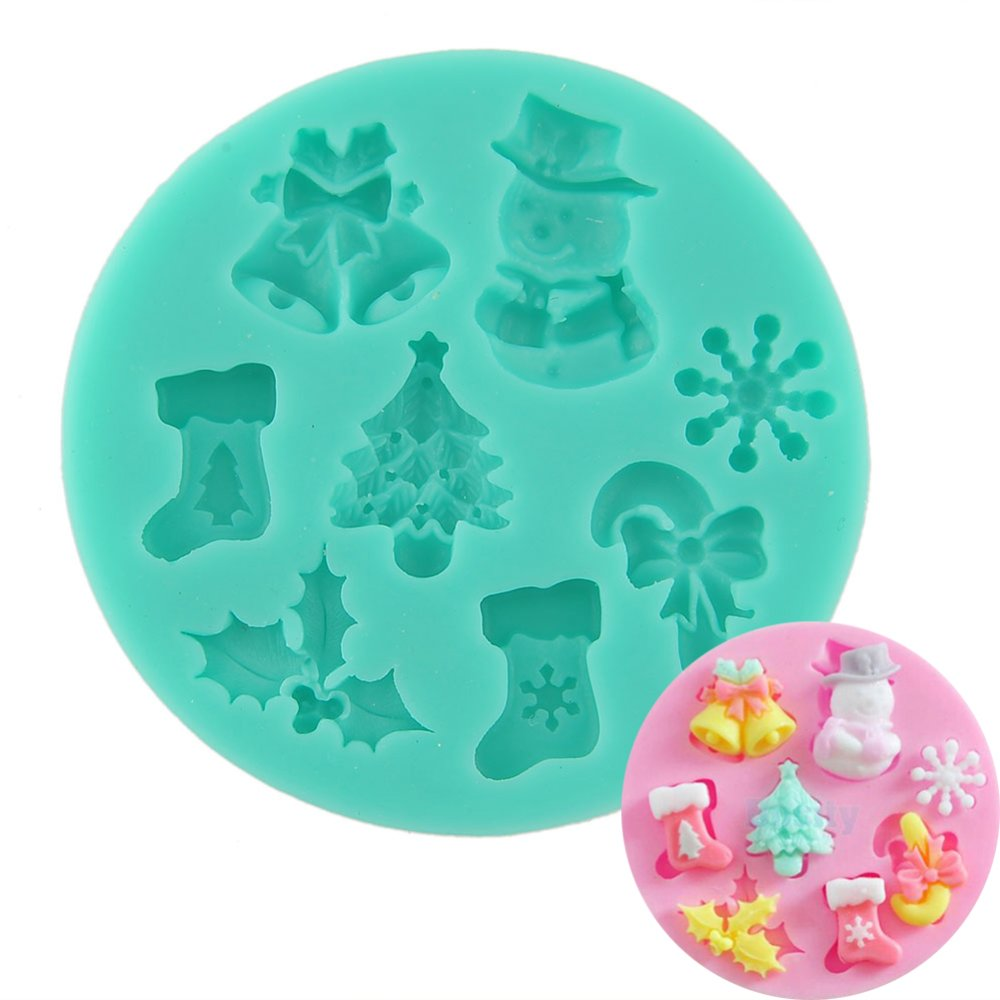 3D Christmas Tree Bell Silicone Cake Suger Fondant Mold Bake ToolXmas DIY - intl
