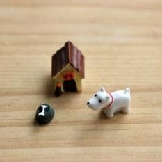 3pc Dog Micro Landscape Gardening Garden Decor Stakes DIY Deco New Ornament - intl