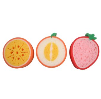 3PCS Kitchen Tool Fruit Dish Washing Cleaning Cloth Gadget Sponge Scouring