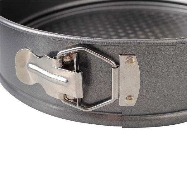 Hình ảnh 3pcs Nonstick Iron Cake Pan Baking Tray Springform Pan (Grey)