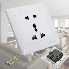 3pcs Universal 5-hole Electric AC Power Outlet Panel Plate Wall Charger Dock Socket - intl