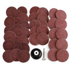 40Pcs 40/80/120/240 Grits 2'' Type R Sanding Abrasive Disc W/ Mandrel Lock - intl