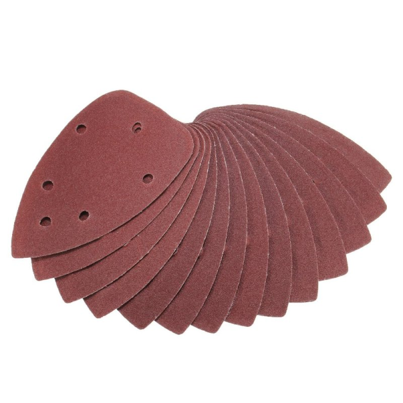 40X 4 120Grit Mouse Sanding Sheet Discs Triangle Grinder Paper Pad - intl