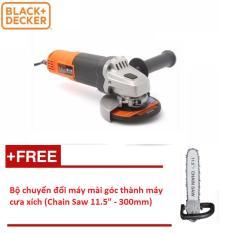 4/100MM Máy mài góc 650W Black&Decker G650-B1 (Tặng Bộ chuyển đổi máy mài góc thành máy cưa xích (Chain Saw 11.5 - 300mm))