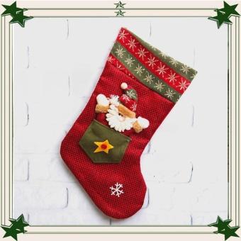 44cmx27cmx22cm Christmas Sock Santa Claus Snowman Xmas Decoration Ornament Gift - intl