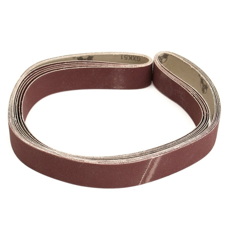 5 pack 1 x 42 2.5x106cm Sanding Belts,600 grit,AL Oxide,Polishing Grinder - intl