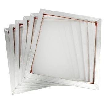 6 Pack Aluminum Silk Screen Printing Press Frame 110 White MeshCount 18