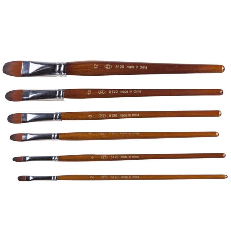 Mua 6 Pcs Multi-functional Wooden Handle Nylon Hair Artist Watercolor Oil Painting Brush Pen Set - intl
