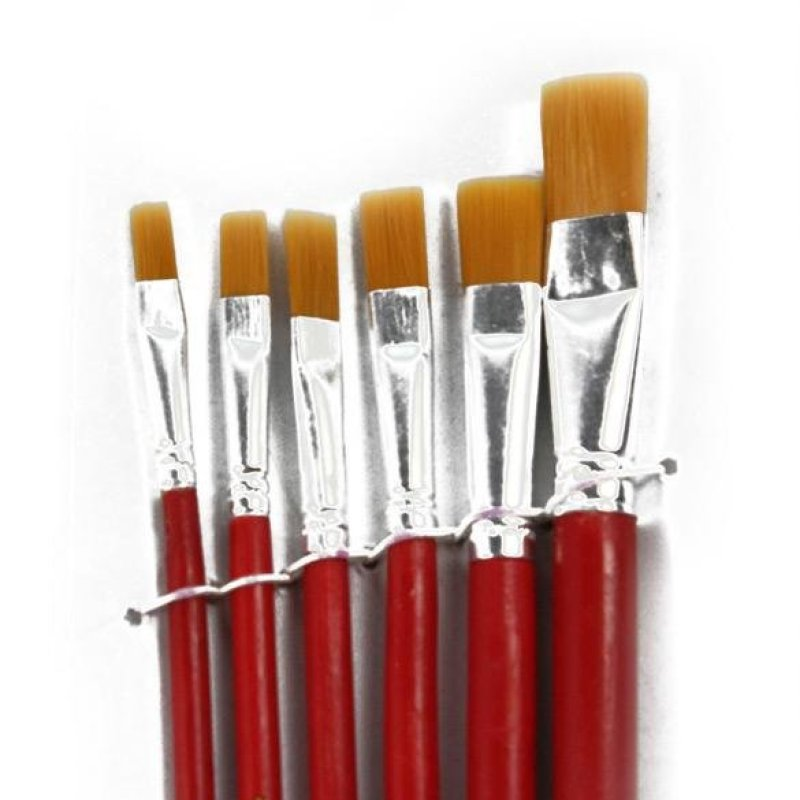 Mua 6 Red Bristles Paint Brushes For Artist Supplies - intl