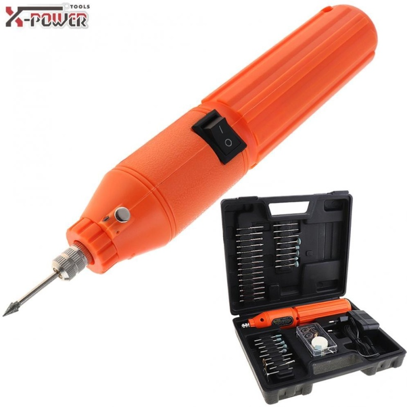 60 in1 12V DC Mini Rechargeable Electric Mill Grinder Polisher with Switch and Fixed Nut for Carved / Polished / Sculpture - intl