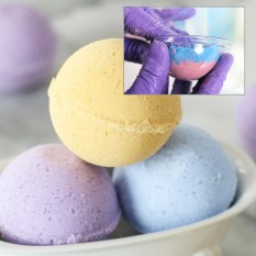 75 Pieces DIY Clear Plastic Bath Bomb Mold with 7cm Christmas Ball - intl
