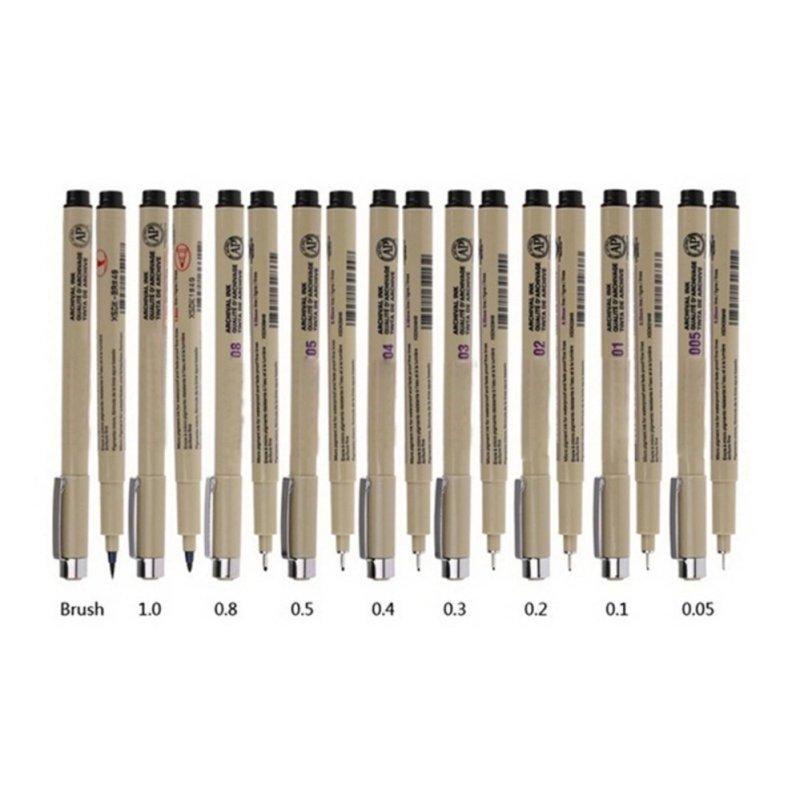 Mua 7pcs Pigma Manga Comic Graphic Markers Drawing Fine Ink Pens Brush Kit Beige - intl