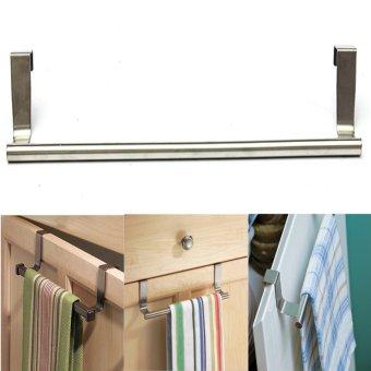 8Pcs Door Kitchen Bathroom Hanger Towel Scarf Holder Drawer Hook 36cm - intl