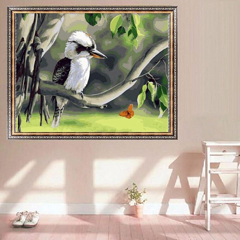 Mua Acrylic Painting By Numbers Kit Canvas Kookaburra on Tree S5 50*40cm A029 New