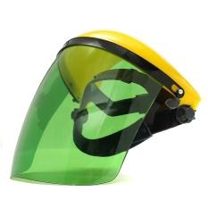 Adjustable Welding Helmet ARC TIG MIG Welder Lens Grinding Mask + Safety Goggles Yellow Cover + PC Light Green Screen - intl