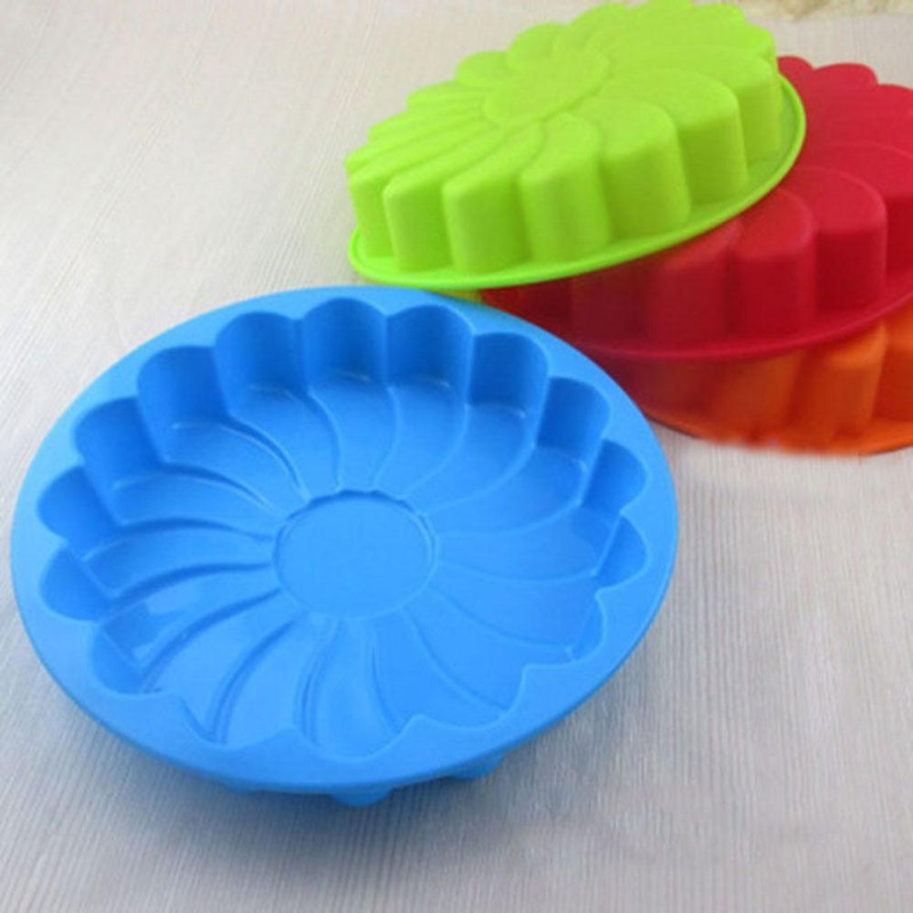 Ai Home Silicone Sun Flower Shaped Cake Mold (Orange) - intl