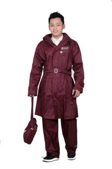 Áo mưa bộ 2 lớp đỏ mận K15B