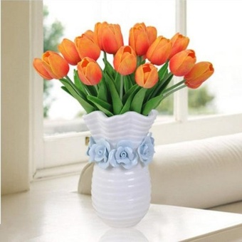 Artificial Tulip Flower PU Wedding Flowers Home Decor BouquetFlowers - intl