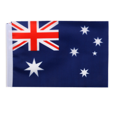 Australian Flag Australia National Flags Hand Waving Flag with Poles 12Pcs - intl