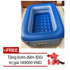Bể Bơi Summer 2 Tầng Cho Bé vui chơi Loại 115cmx85cmx35cm + Tặng Bơm Điện